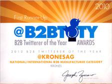 Krones AG B2BTOTY-Award