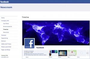 Facebook Newsroom Timeline :: Screenshot