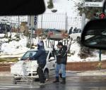 Rom: Schnee im Einkaufswagen - Schneeschieber? :: Foto: DoSchu.Com