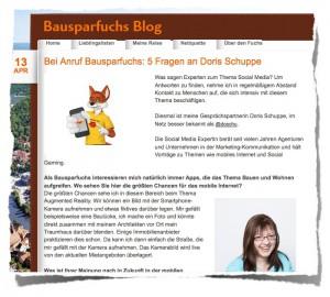 Bausparfuchsblog Interview :: Screenshot
