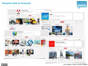 Pinterest B2B :: Beispiele 1/4