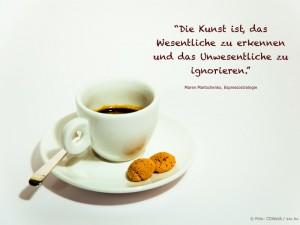 Zitat Espressostrategie (Foto: freeimages.com / Christian Kitazume