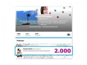 @DoSchu :: 2000 Twitter Follower