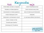 Vor- und Nachteile Keynote