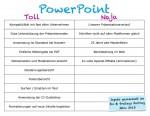 Vor- und Nachteile Powerpoint