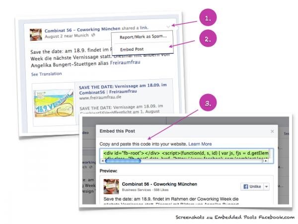 HowTo: Facebook Post einbetten