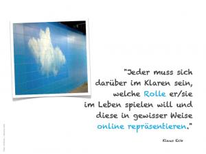 Klaus Eck: eigene Rolle online repräsentieren