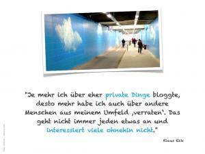 Klaus Eck: Privatheit und Bloggen