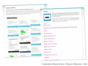 Tablet: Social Media Newsroom / Glossar