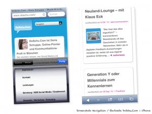 Smartphone Navigation / Homepage