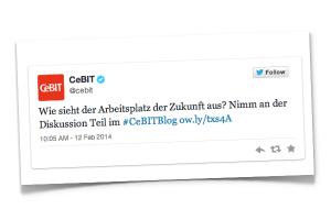 CeBIT Blogparade Tweet