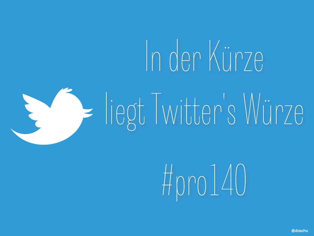Twitter #pro140