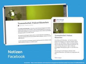Facebook Seite Notizen
