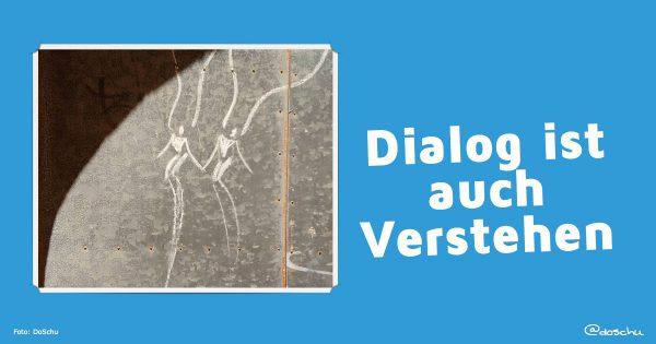 Dialog ist auch Verstehen  - Illustration mit chalkart by Renato del Solar