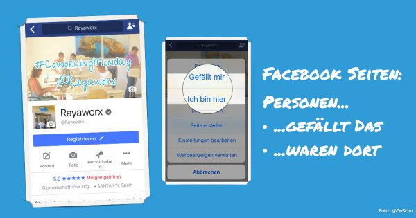 facebook seite mobile ansicht