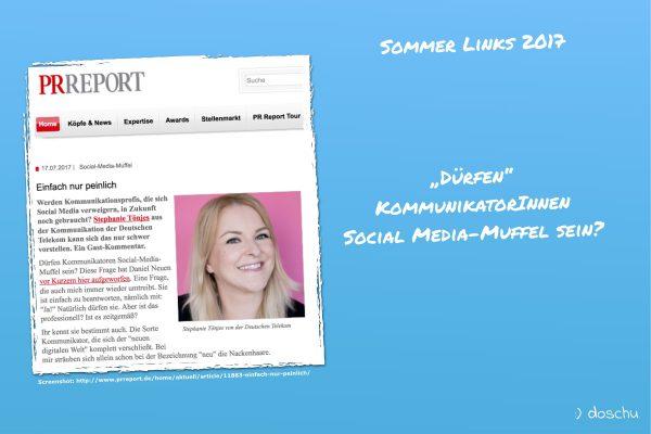 PR Report Artikel