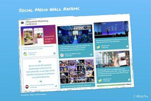 beispiel social media wall