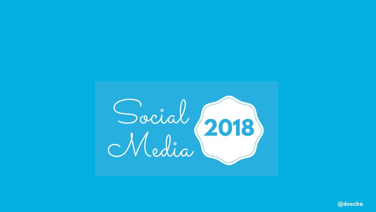 Social Media 2018 illustration