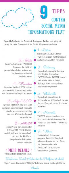 """Social Media """"Informationsflut"""" 9 Tipps"""