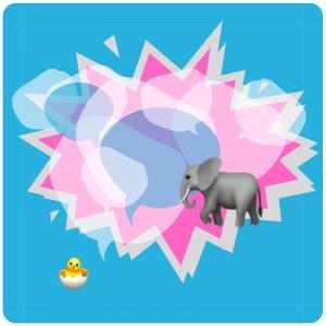 illustration blog social media osterküken zu elefanten