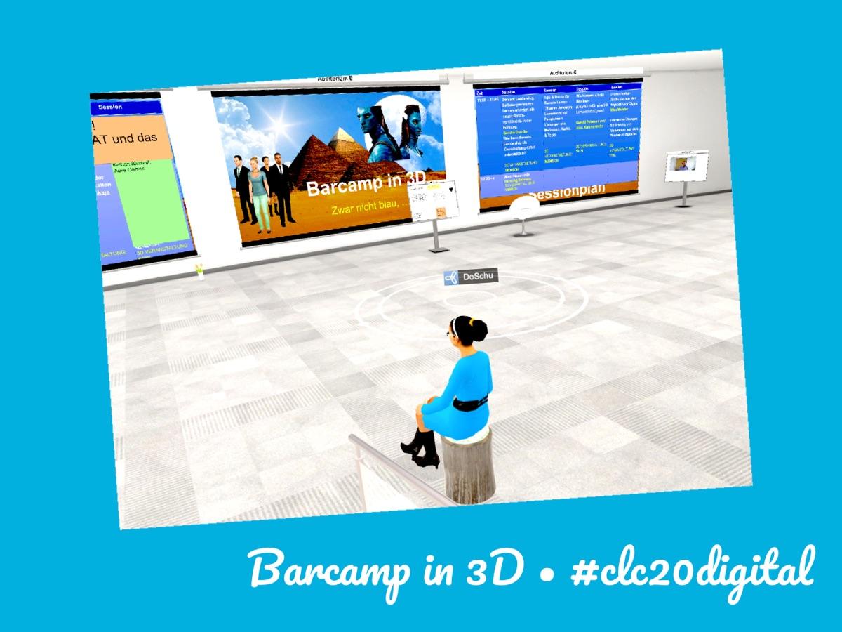 DoSchu @ Barcamp in 3D im Corporate Learning Camp 2020 digital clc20digital