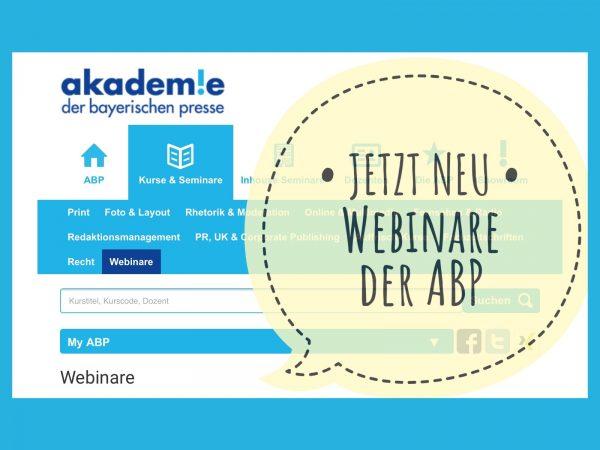 Neu: Webseminare an der ABP