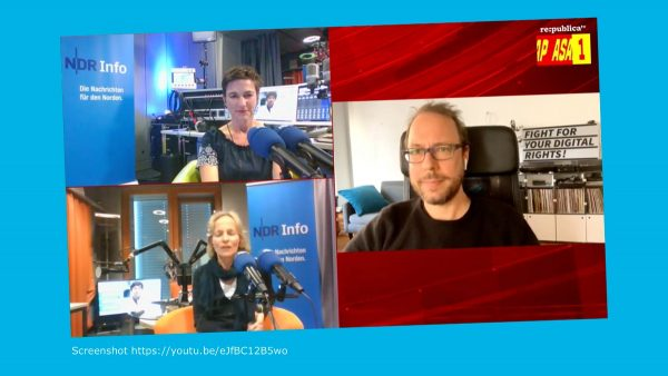 Screenshot Session NDR Info Podcast Coronavirus-Update #rpremote